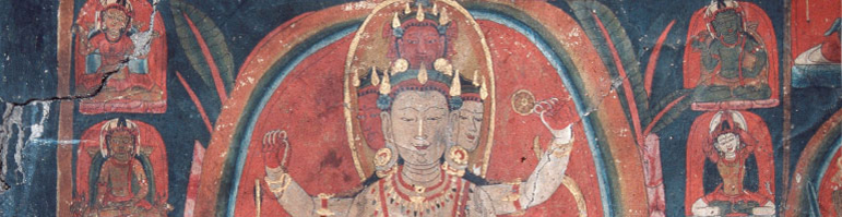 Wall painting in the Avalokiteshvara temple in Wanla